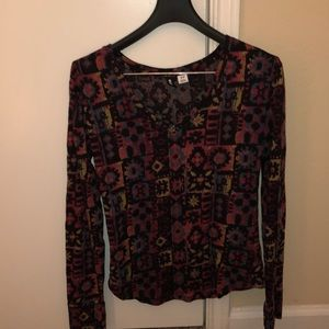 Psychedelic patterned urban outfitters top